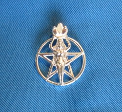 Pendant Pentagram with Goddess