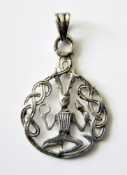 Pendant Cernunnos with knots, silver plated