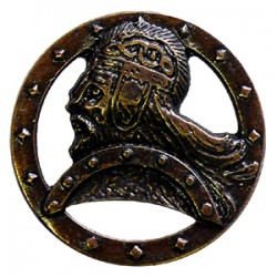 Decorative rivet in antique brass-look Nordic Warrior