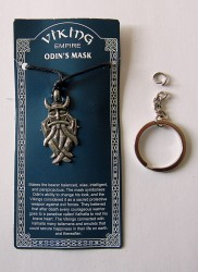 Pewter pendant Mask of Odin