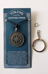 Pewter pendant Rune circle nordic protection amulet