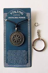 Pendentif en étain Cercle des runes amulette protectrice nordique