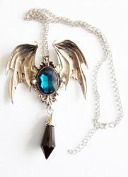 Pendentif gothique vampire avec chaîne