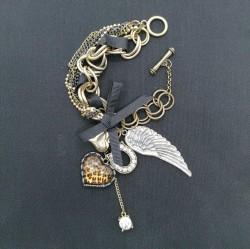Gothic charms bracelet