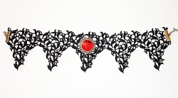 Bat Wings lace neck ribbon
