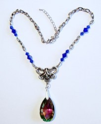 Necklace Blue Rainbow