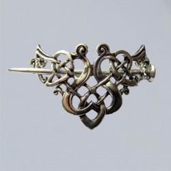 Celtic knot hair clip, viking hair clip