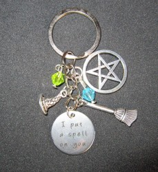 Witches key chain I put a spell on you