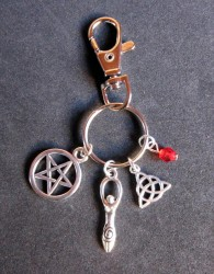 Hexen Schlüsselanhänger Wicca Göttin