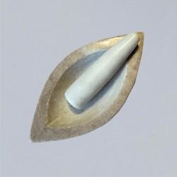 Marmor Mörser Ellipse
