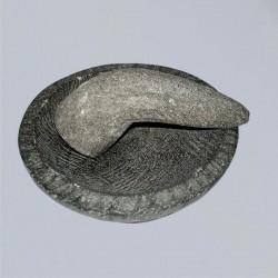 Rustic Mortar flat bowl