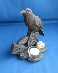 Candle holder Raven with tealight