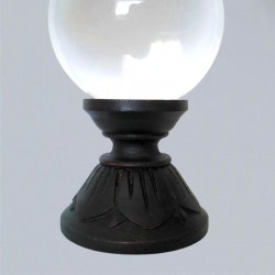 Support pour boule de cristal Lotus en bois
