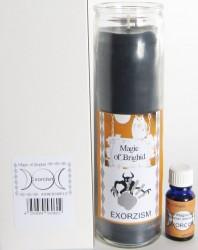 Magic of Brighid Ensembles de bougies en verre Exorcism