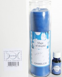 Magic of Brighid Jar Candle Set Gambler
