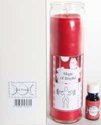 Magic of Brighid Glaskerzen Set Get Power