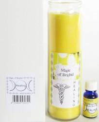 Magic of Brighid Set di candele di vetro Healing