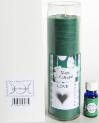Magic of Brighid Glaskerzen Set Love Booster