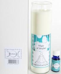 Magic of Brighid Glaskerzen Set Meditation