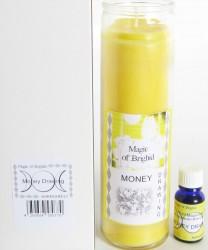 Magic of Brighid Glaskerzen Set Money Drawing