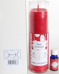 Magic of Brighid Set di candele di vetro Willpower