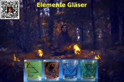 Tealight glasses 4 Elements set water resistant