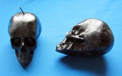 Figure Candles for Magickal Purposes - Skull Candle Reversible