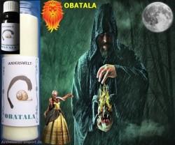 Voodoo Orisha Candele in vetro Obatala
