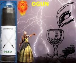 Voodoo Orisha Jar Candle Ogun