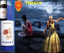 Voodoo Orisha Bougie en verre Yemaya