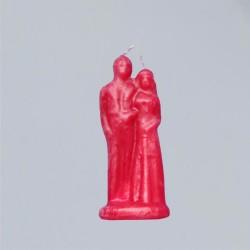 Bougie personnage pour buts magiques - Bougie rouge de mariage