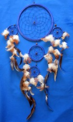 Four Ring Dream Catcher, 17 cm Brown