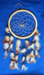 One Ring Dream Catcher 20 cm Brown