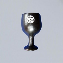 Calice en céramique petit, avec pentagramme
