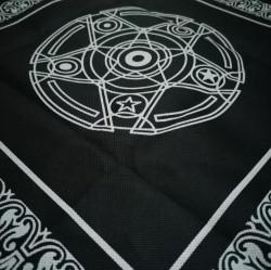 Nappe d'autel grand avec pentagramme
