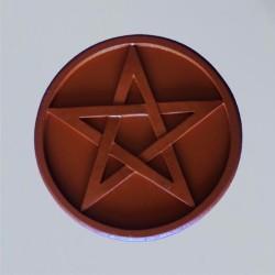 Altarpentakel Pentagramm braun