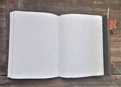 Buch der Schatten Pentagramm Drache mit Ledereinband und Messingbeschlägen