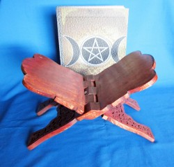Book stand of wood with Triple Moon