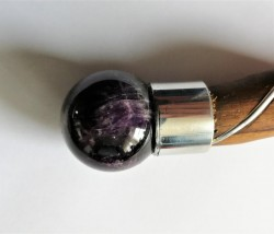 Winding Magic wand with Amethyst