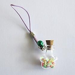 Piccolo bottiglia di elisir fiore, con tappo di sughero, 5 pc.