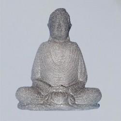 Buddha in roccia lavica, Nero