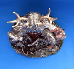 Cernunnos / Herne di polyresin, bronzato