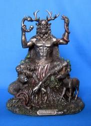Cernunnos / Herne from polyresin, bronzed