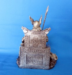 Odin Wotan Figur aus Polyresin bronziert