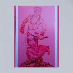 Voodoo Orisha Prayer Card Chango