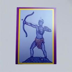 Voodoo Orisha Gebetskarte Ochosi
