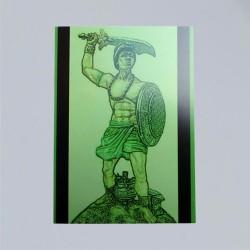 Voodoo Orisha Gebetskarte Ogun