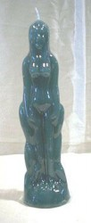Figure Candles for Magickal Purposes - Woman Green