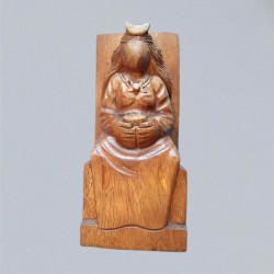Altarfigur große Göttin aus Holz