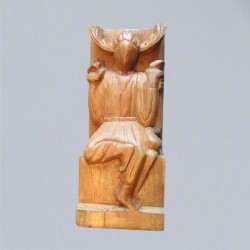 Altar Figure Horned God from wood